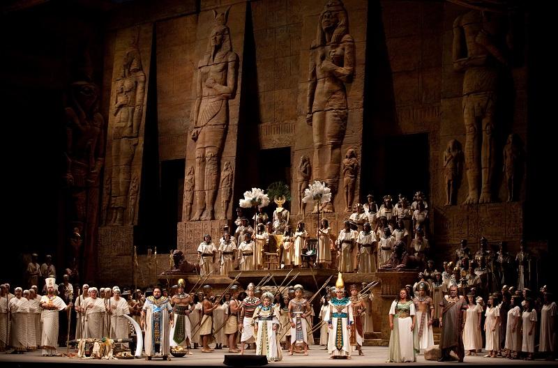 "A scene from VerdiÕs ""Aida."" Photo: Marty Sohl/Metropolitan Opera  Taken during the dress rehearsal on September 24, 2009 at the Metropolitan Opera House in New York City."